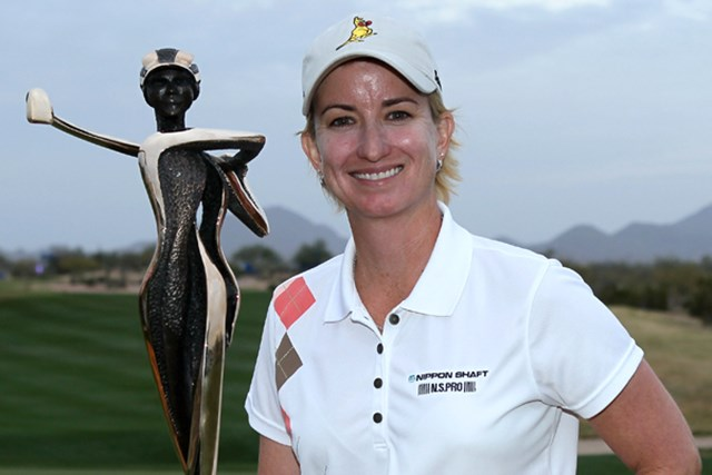 2011年 RRドネリー LPGA ファウンダーズカップ 最終日 カリー・ウェブ 2戦連続の逆転劇! 今大会の初代優勝者に名前を刻んだK.ウェブ (Stephen Dunn/Getty Images)