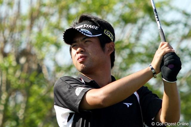 今週の大会に急遽出場が決まった池田勇太。練習ラウンドにも集中力が漂う