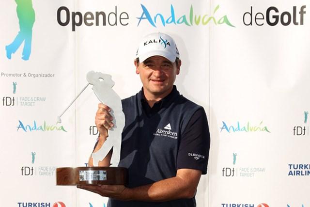 2011年 アンダルシアオープン 最終日  ポール・ローリー ツアー通算6勝目を挙げたポール・ローリー(Ross Kinnaird/Getty Images)