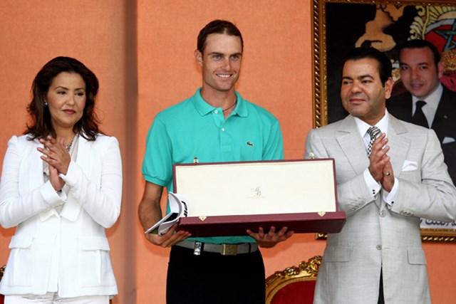 2011年 ハッサンII ゴルフトロフィー 事前 リース・デービス 昨年は最終日に逆転で欧州ツアー初タイトルを手にしたR.デービス(Richard Heathcote /Getty Images)
