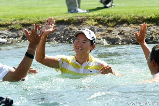 2011年 クラフトナビスコチャンピオンシップ 事前 ヤニ・ツェン 昨年は勝利のダイビングをしたヤニ・ツェン。今年が誰が池に飛び込むのか!?
