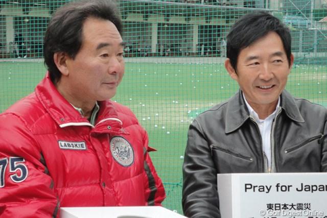 2011年 ホットニュース 東尾修 石田純一 東尾理子の父・修さんと夫・石田純一も仲良くチャリティイベントに参加