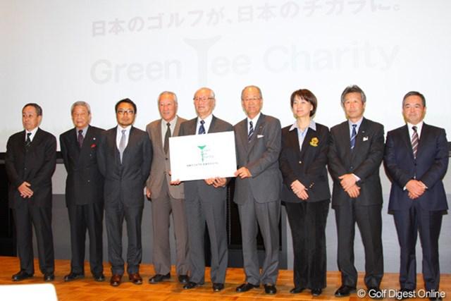 「日本のゴルフが、日本のチカラに。」をスローガンとし、復興支援を行っていく