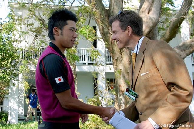 松山英樹は米テレビ局からインタビュー。やはり海外メディアからの注目は高い