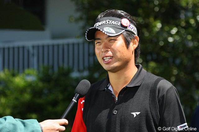 この日はコースに出ず、ドライビングレンジで汗を流した池田勇太