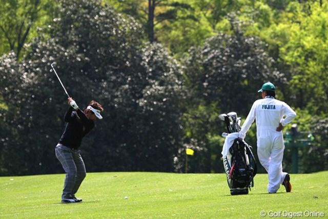 2011年 マスターズ 事前情報 藤田寛之 火曜日の時点で6日連続で練習ラウンドをこなしている藤田寛之