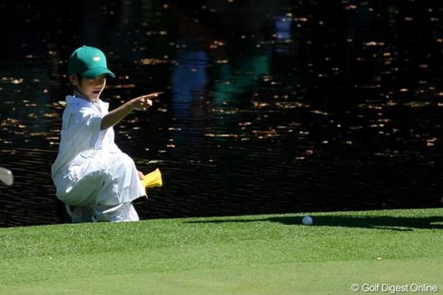 2011年 マスターズ事前情報 藤田大稀くん こちらは大稀くん。「お父さん、真っ直ぐ打たなきゃダメだよ!」