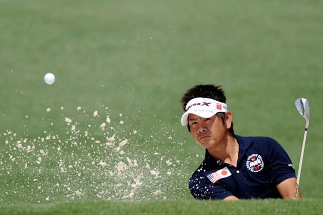 中盤に連続ボギーをたたくなどスコアを崩し予選落ちとなった藤田寛之(Harry How/Getty Images)