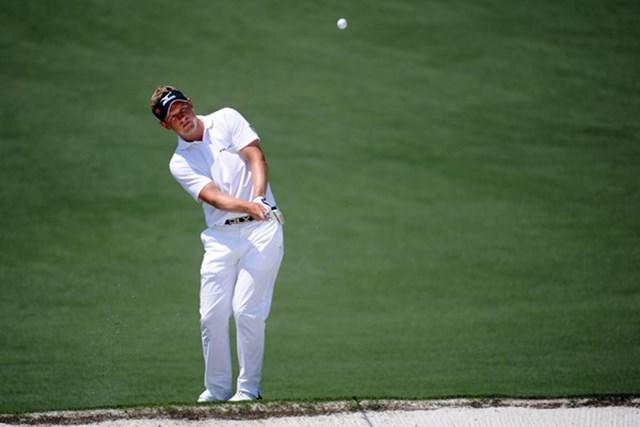 2011年 マスターズ最終日 ルーク・ドナルド パー3コンテストの覇者ルークは出入りの激しいゴルフで10アンダー4位タイ(Harry How/Getty Images)