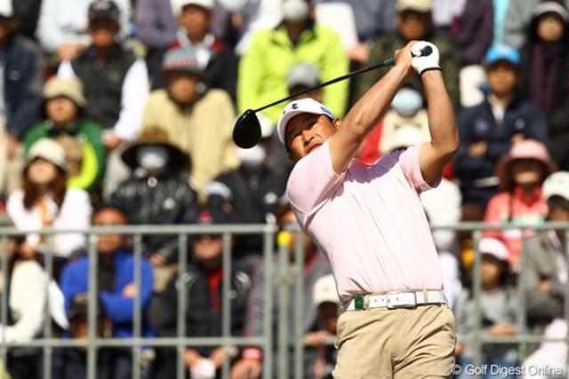 出入りの激しいゴルフでしたが、スコアを3つ伸ばして4位タイフィニッシュ