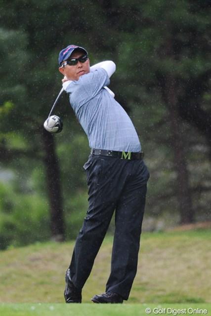 2011年 つるやオープンゴルフトーナメント 2日目 谷口徹 初日は死んだふりしとったけど、今日は6バーディ、ノーボギー。貫禄のプレーで存在感を発揮してくれはりました