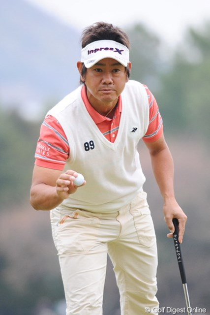 2011年 つるやオープンゴルフトーナメント 2日目 藤田寛之 どや!マスターズ帰りやで!連日の60台なんて簡単なモンやで!