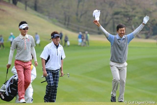 2011年 つるやオープンゴルフトーナメント 最終日 S.K.ホ 昨日ホストプロって書いたけど、今年から契約変わってました。スンマソン。チップインイーグルでバンザ~イ!7位T