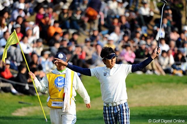 3年ぶりの勝利を飾った近藤共弘。今季のテーマは「結果よりも一打に集中」