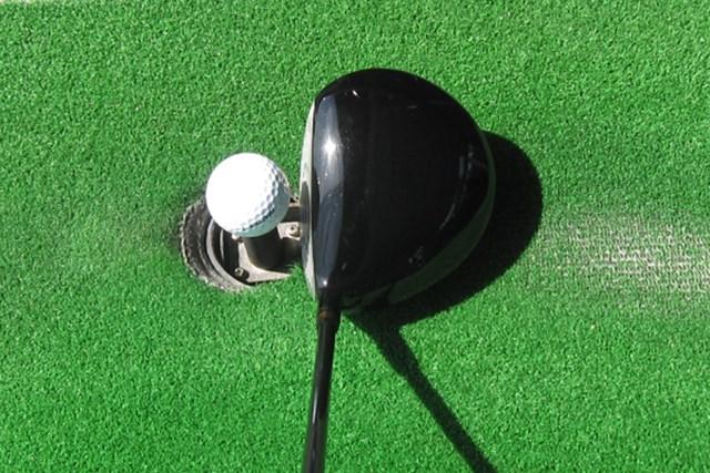 ヘッド形状はオーソドックス。ボールを捕まえやすいインセットホーゼルが特徴的だ