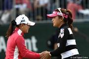 2011年 サイバーエージェントレディスゴルフトーナメント 初日 有村智恵&横峯さくら