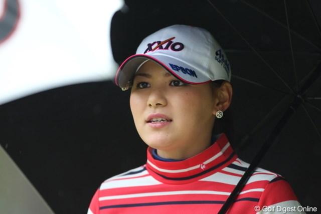 震災での中断後、初めてという会心のゴルフ、ショットの手応えに明るい表情の横峯さくら