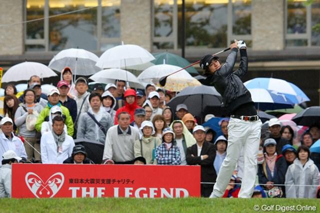 3年連続出場となる石川遼は、首位に6打差の8位タイ発進