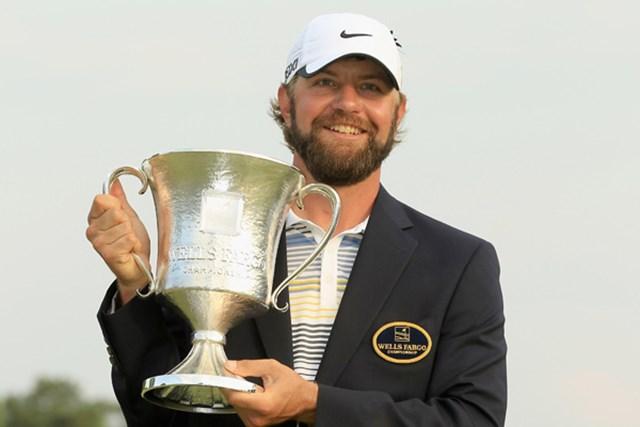 2009年の全米オープン以来となる優勝を果たしたルーカス・グローバー(Streeter Lecka/Getty Images)