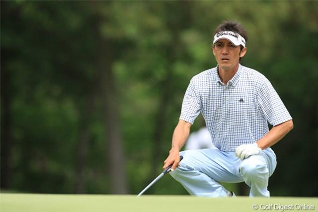2011年 日本プロゴルフ選手権大会 日清カップヌードル杯 2日目 河井博大 6バーディ、2ボギーでこの日のベストスコア「67」をマークした河井博大