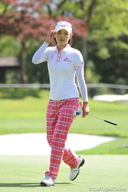 プリンセス・ナヨンはこの日は目立たないラウンドでした。いつも日本ではパッとしませんなァ・・・・相性悪い?24位T