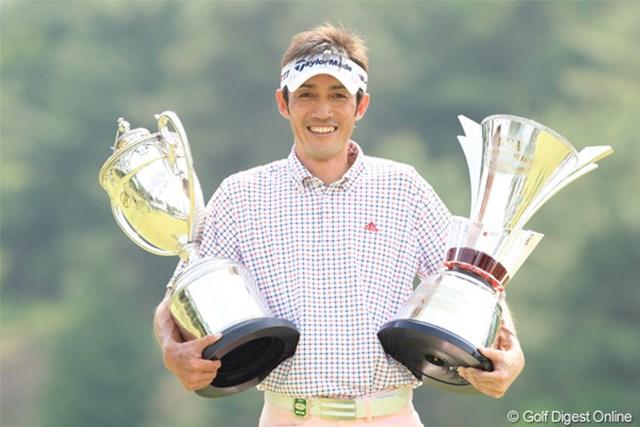 2011年 日本プロゴルフ選手権大会 日清カップヌードル杯 最終日 河井博大 国内メジャーの大舞台でうれしいツアー初優勝をマークした39歳の河井博大