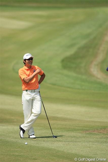 2011年 日本プロゴルフ選手権大会 日清カップヌードル杯 最終日 キム・キョンテ 前半はもしかして!? と思いましたが後半ダウンでトータル-4。3Tで終了。