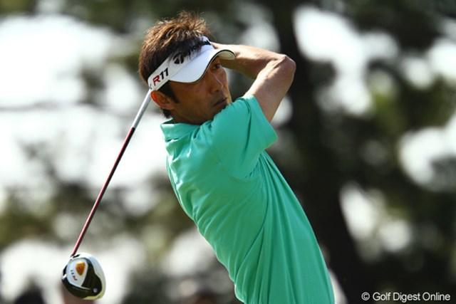 2週連続優勝に向けて8アンダー首位タイの好スタートをきった河井博大