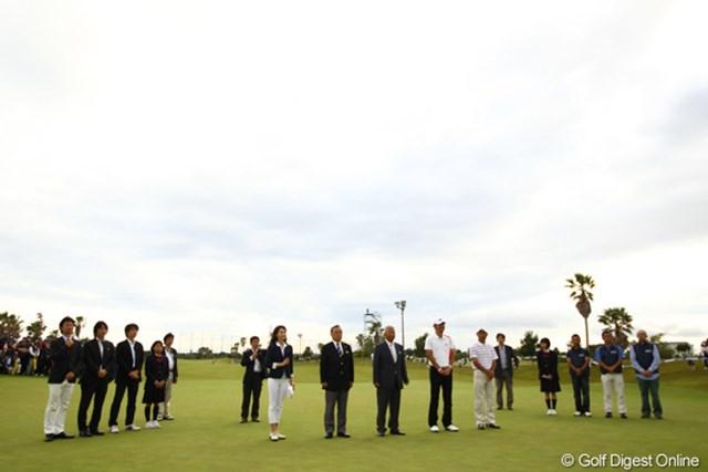 みんなでつくるゴルフトーナメント・・・表彰式もアットホームな雰囲気です