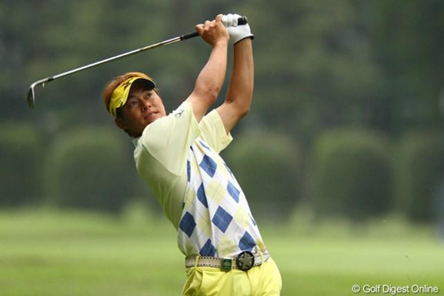 2011年 ダイヤモンドカップゴルフ 初日 上田諭尉 狭いフェアウェイに苦しみ「僕には合わないコース」と苦笑いの上田諭尉がトップタイで初日を終えた