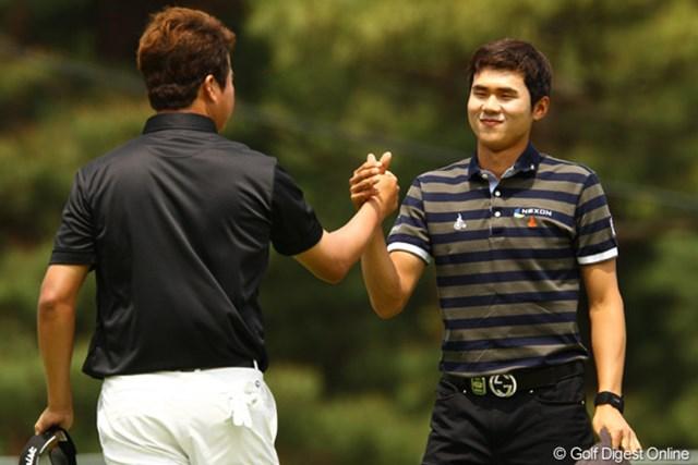 2011年 ダイヤモンドカップゴルフ 初日 金度勲 全米オープンの出場権を獲得して勢いに乗る金度勲も「66」をマーク