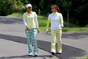 2011年 ヨネックスレディスゴルフトーナメント 事前 若林舞衣子、米山みどり
