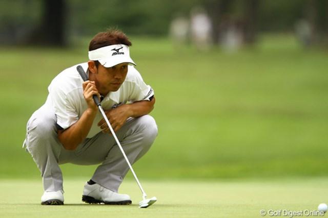 2011年 ダイヤモンドカップゴルフ 初日 桑原克典 フロントナインでスコアを伸ばしました。久々に勝利の美酒を味わえるか・・・。