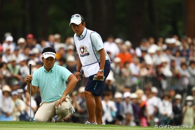 2011年 ダイヤモンドカップゴルフ 初日 薗田峻輔 前半は調子良さそうに見えたのですが・・・バックナインで崩れてしまいました。1オーバー59位タイとやや出遅れ。