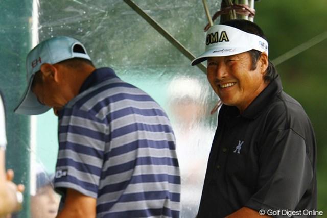 16位タイで決勝ラウンドへ進んだジャンボ尾崎は笑顔