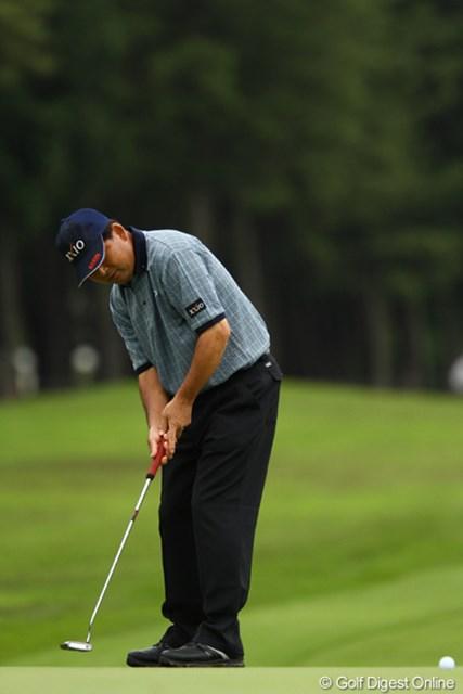 2011年 ダイヤモンドカップゴルフ 2日目 中嶋常幸 6番Par5でイーグルを奪うなど、4つスコアを伸ばし、23位タイで予選通過