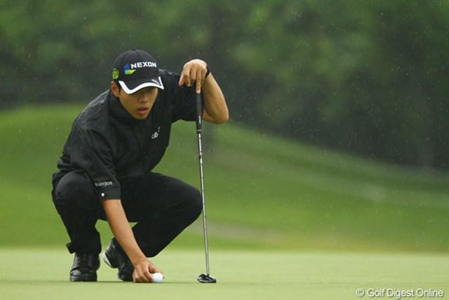 出入りの激しいゴルフでしたが、何とか1つスコアを伸ばしました。日本ツアー初優勝を狙います。