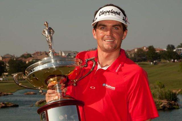 プレーオフでツアー初優勝を決めたキーガン・ブラッドリー(Darren Carroll/Getty Images)