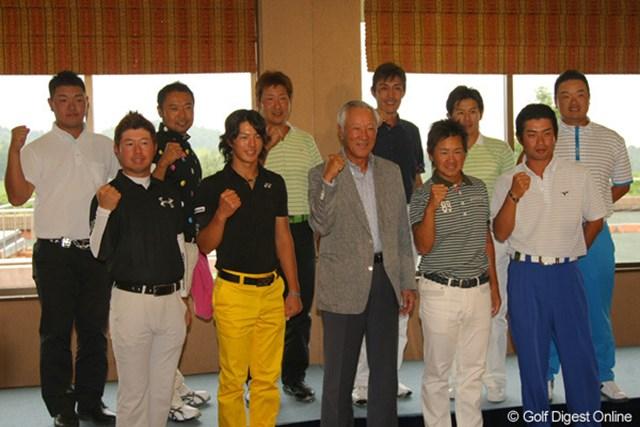 2011年 日本ゴルフツアー選手権 Citibank Cup Shishido Hills 事前 日本代表選手 青木功キャプテンを中心に日本代表チームは連覇を狙う