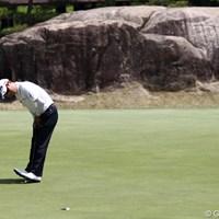6番イーグルパット、2番でもイーグルです。 2011年 日本ゴルフツアー選手権 Citibank Cup Shishido Hills 3日目 H.T.キム