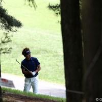 12番ティーショットを隣のホールまで打ち込んでしまいダブルボギー、悔しい・・・。 2011年 日本ゴルフツアー選手権 Citibank Cup Shishido Hills 3日目 小泉洋人