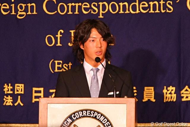 都内で会見に出席した石川遼「いつかマスターズで優勝したいという気持ちをいつも持っている」