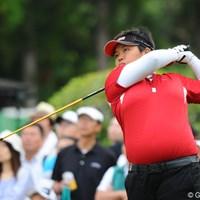 前半3アンダーで一時はトップに立ちました。フィリピーナです。マニラ、ケソン、セブ・・・魅惑の国からいらっしゃいました。8位T 2011年 サントリーレディスオープンゴルフトーナメント 初日 チヒロ・イケダ