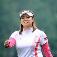 後半スコアを崩したけど、よう踏ん張りました!美保ちゃんに代わって、このどや顔で「ドヤサ!」19位T 2011年 サントリーレディスオープンゴルフトーナメント 2日目 前田久仁子
