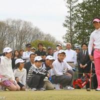 今年8月、石川遼の名前を冠とするジュニア競技が実施される ※画像は2010年のジュニアイベント参加時のもの 2011年 石川遼がジュニア大会を主催