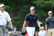 2011年 全米オープン 初日 (左から)L.ウェストウッド、L.ドナルド、M.カイマー