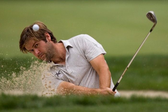ドタバタ劇の末、全米オープンデビューを果たしたロバート・ロック。無精ヒゲは今日に限ったことではありませんのであしからず((c)USGA /Darren Carroll) 2011年 全米オープン 初日 ロバート・ロック
