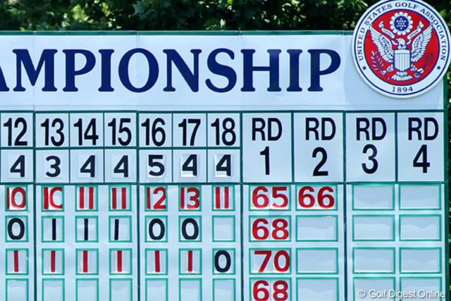 2011年 全米オープン 2日目 「-13」 ついに記録は塗り替えられた。明日もさらにスコアは伸びるのか!?