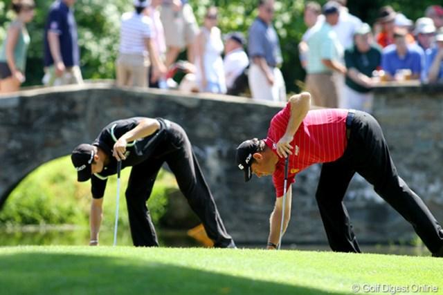 2011年 全米オープン 2日目 M.カイマー(左)&L.ウェストウッド(右) 落穂拾い、ではないんですよね
