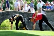 2011年 全米オープン 2日目 M.カイマー(左)&L.ウェストウッド(右)